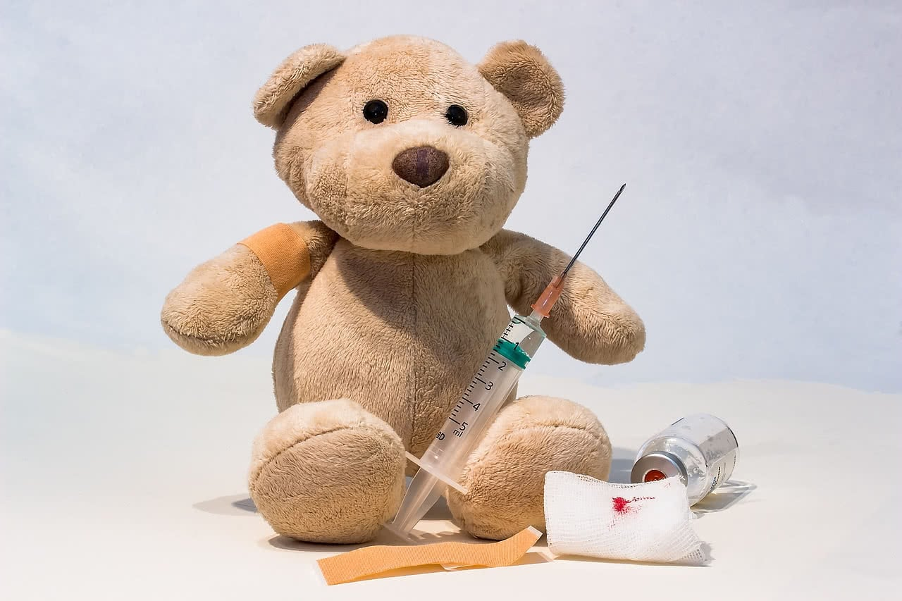 Image with Vaccine and Toy