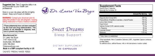 Sweet Dreams Label Feb2020